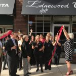 ribbon cutting for grand opening of winery
