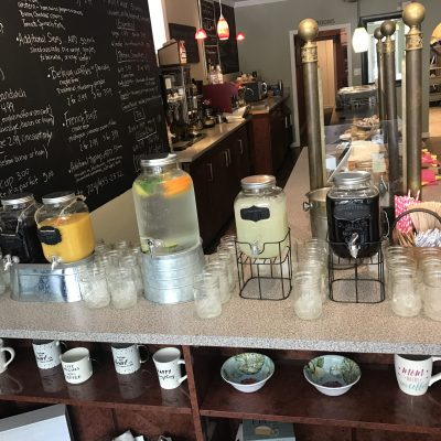 drink station for a bridal shower